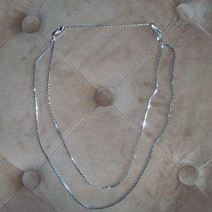 Vintage Avon 1980 Glimmering Silvertone Necklace